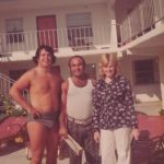 Mike Pappas, Valerie and Johnnie Gray in Tampa FL in 1974