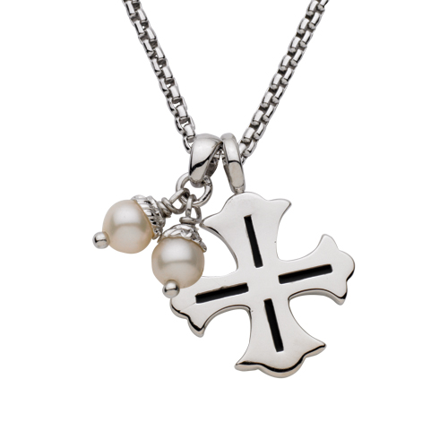 Cross with Pearls Pendant