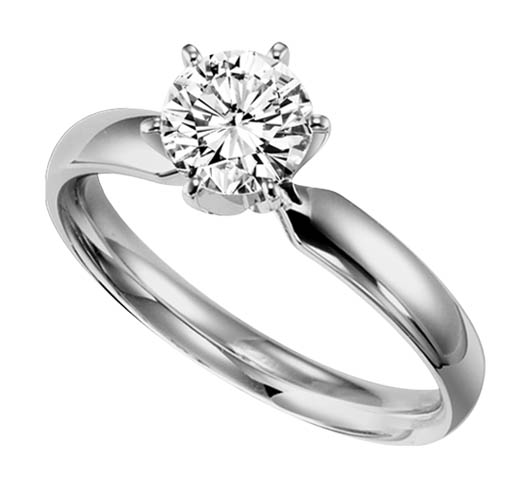 One carat round diamond engagement ring