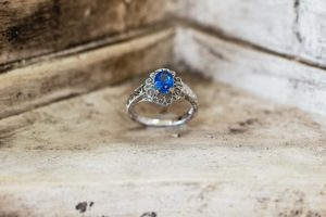 Greek Blue Sapphire Wedding Ring, Springfield, MO - Manolis Jewelers