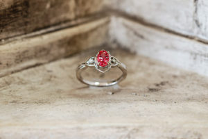 Greek Pink Sapphire, Wedding Ring, Springfield, MO - Manolis Jewelers - Photography by Packy Savvenas