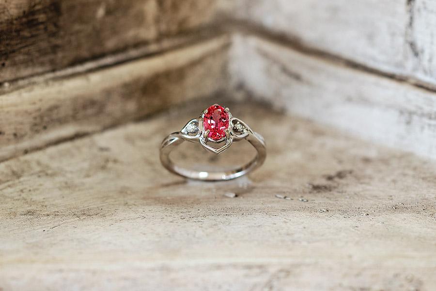 Greek Pink Sapphire, Engagement Ring