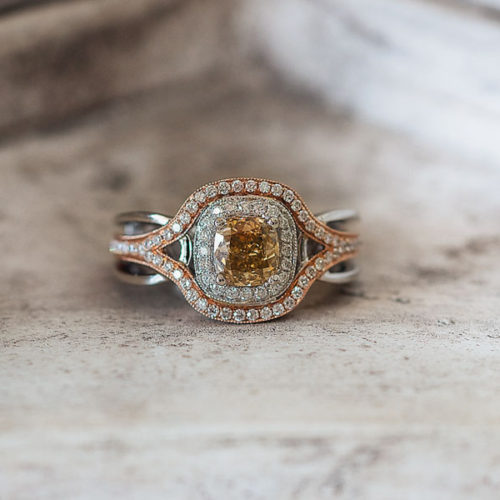 Yellow and Rose Gold Engagement Ring, Springfield MO - Manolis Jewelers