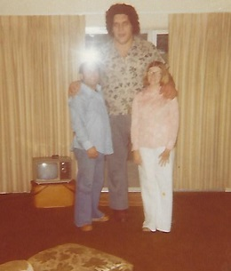 Andre the Giant and Mike Pappas