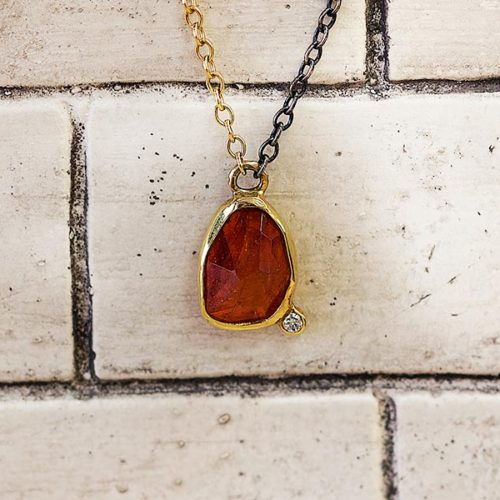 Mandarin garnet pendant